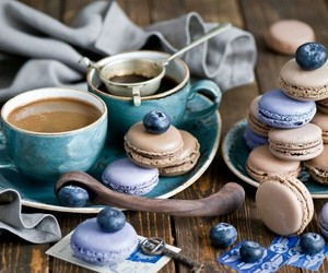 coffee, blue, and food image