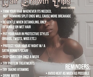 tips, hair growth, and self care image