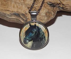 black horse, etsy, and animal jewelry image