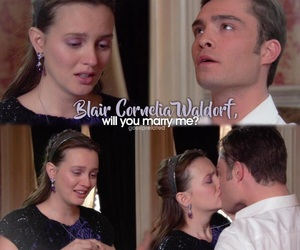 blair waldorf, chair, and chuck and blair image