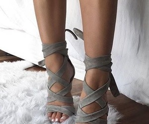 heels, shoes, and grey image