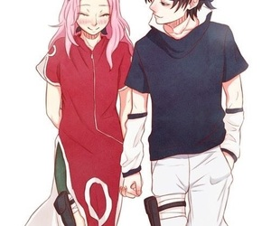 sakura, sasuke, and anime image