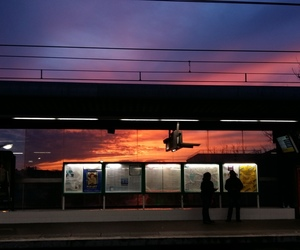 orange, paris, and sky image