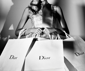 dior, model, and shopping image