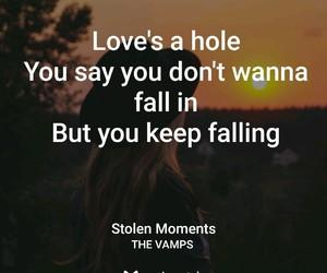 falling, Lyrics, and stolen moments image
