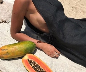 beach and fruit image