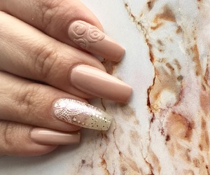 design, marble, and nail image