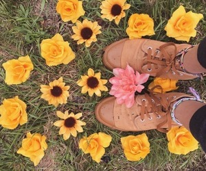 boots, cute, and flower image