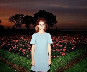 lana del rey, lana, and flowers image