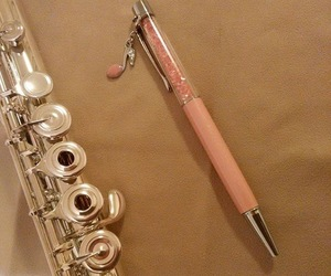flute, music, and pen image