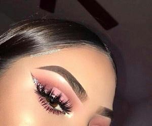 makeup, eyebrows, and make image
