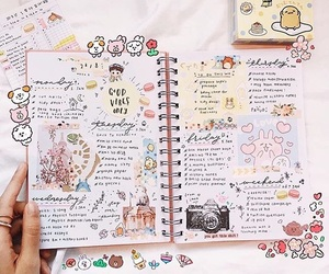 kawaii, pastel, and planner image