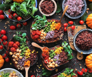 food, healthy, and veggie image