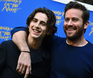 armie hammer, timothee chalamet, and couple image