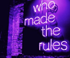 purple and rules image