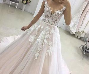 evening formal dress and applique long prom dress image