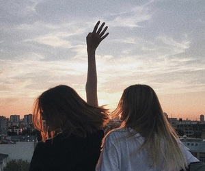 girl, friendship, and summer image