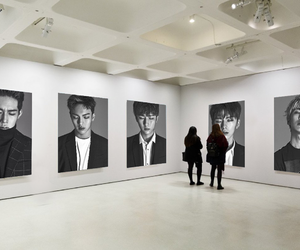 art, black and white, and gallery image