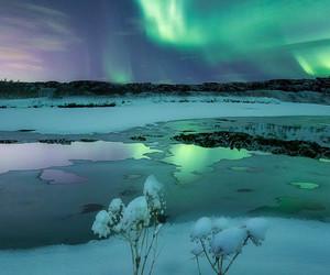 aqua, ice, and snow image