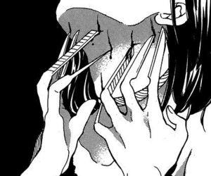 girl, manga, and art image