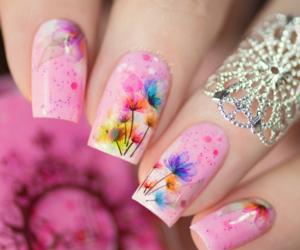 nails, uñas, and uñas rosas image