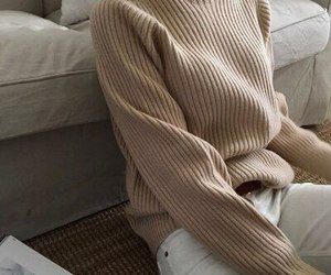 beige, cozy, and fashion image