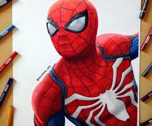 Avengers, drawing, and spider-man image