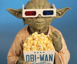 yoda, star wars, and popcorn image