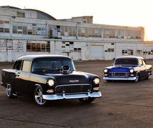 bel air, cars, and chevrolet image