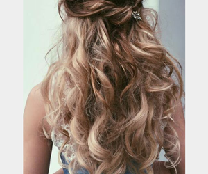 beauty, hairstyle, and Prom image
