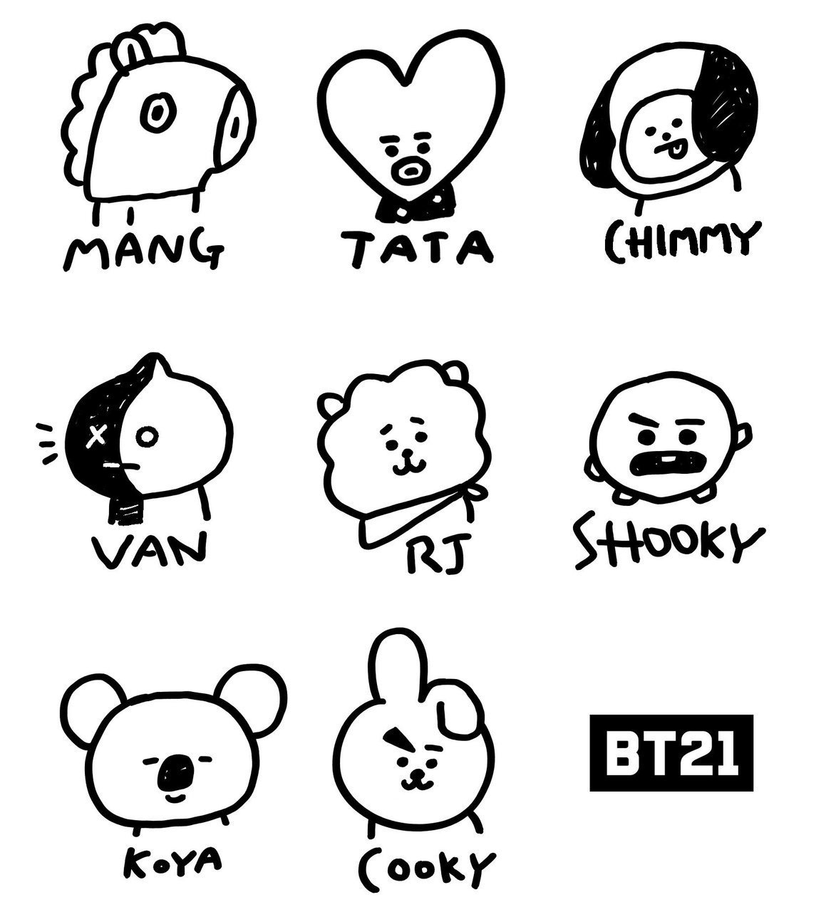 BT21 Drawing Challenge!! discovered by ♡Jieun