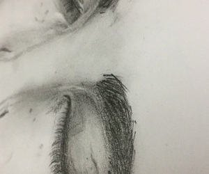 drawing, eyes, and women image