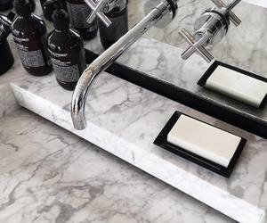 marble, bathroom, and home image