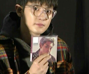 Chen, exo, and glasses image