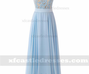 long chiffon prom dresses, long blue prom dresses, and long prom dresses 2018 image