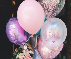 balloons, party, and happy birthday image
