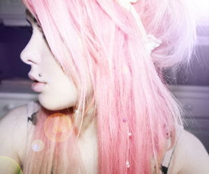 dye, hair, and pink image