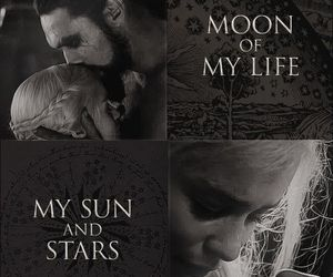 game of thrones, khal drogo, and moon image