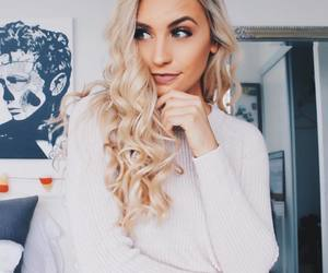 blond, loose, and curls image