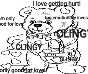 aesthetic, bear, and depression image