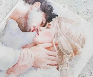 art, drawing, and lovers image