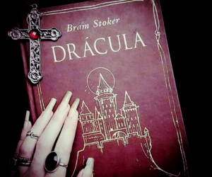 book, Dracula, and author image