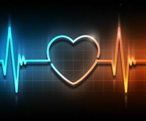 blue, orange, and heart beat image