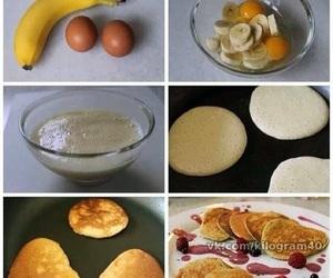 banana, food, and pancakes image