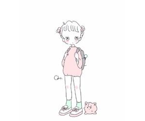 イラスト, girl, and caho image