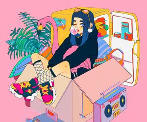 pink, girl, and anime image