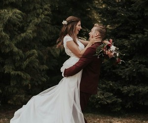 bride, photo, and forest image