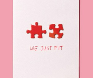 love, card, and puzzle image