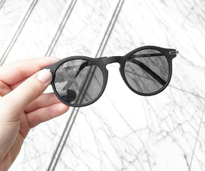 sunglasses, black, and style image