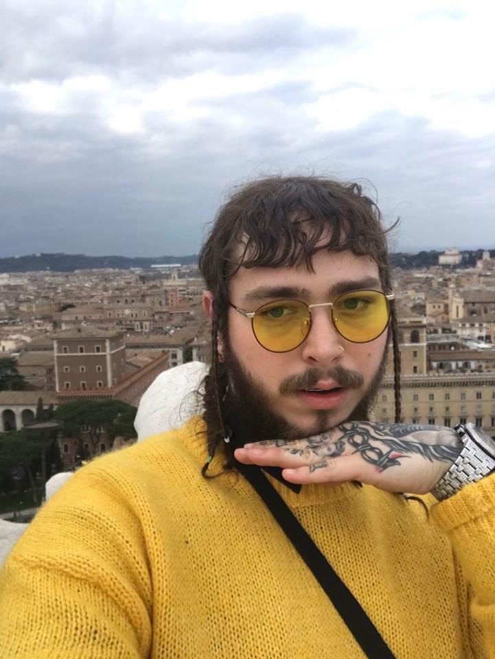 post malone, yellow, and posty image